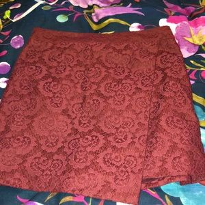 Madewell lace mini skirt